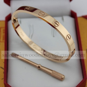 Replica cheap Cartier Love Bracelet Pink Gold (New Version - Prevent Screws Fall Out)