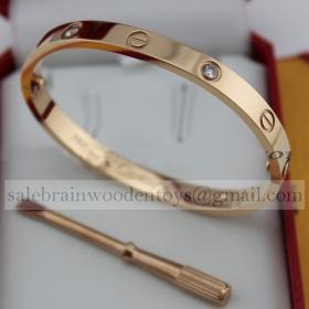 Replica Replica Cartier Love Bracelet Pink Gold with 4 Diamonds 5th