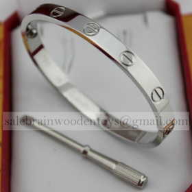 Replica Knockoff Cartier Love Bracelet White Gold stainless steel 5th