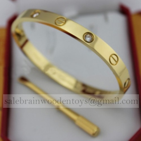 Fake Cartier Love Bracelet Yellow Gold with 4 Diamonds online