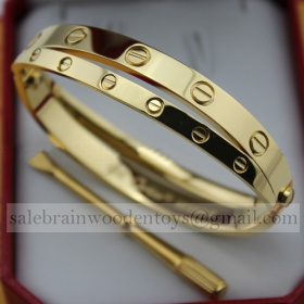 Cartier Love Bracelets Replica Yellow Gold stainless steel