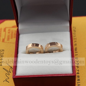 Replica Fake Cartier Love Earrings Pink Gold Cheap Sale