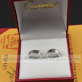 Replica Knockoff Cartier Love Earrings White Gold B8028900 Online Sale