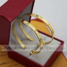 Replica Knock off Cartier Love Earrings Yellow Gold stainless steel