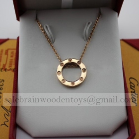 Replica Replica Cartier Love Necklace Pink Gold stainless steel
