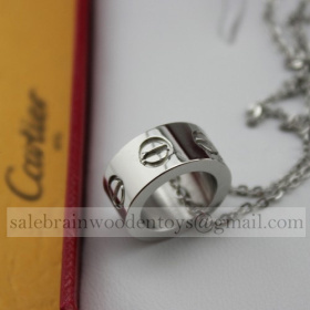 Replica Knockoff Cartier Love Necklace White Gold stainless steel