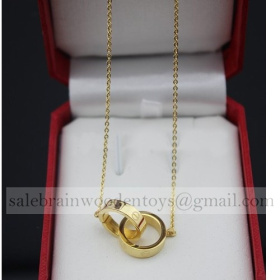 Replica Imitation Cartier Love Necklace Yellow Gold stainless steel