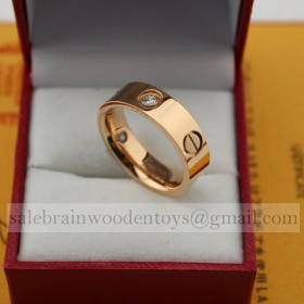 Replica Replica Cartier Love Ring Pink Gold Diamonds B4087500