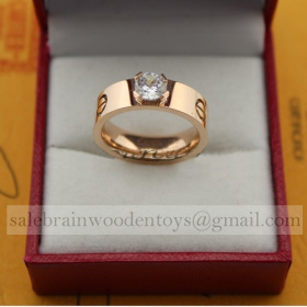 Replica Cartier Love Ring Replica Solitaire Pink Gold Diamond Price