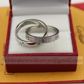 Replica Replica Cartier Love Ring White Gold with Diamonds Online Sale