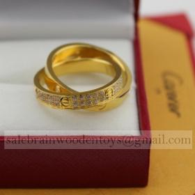 Replica Replica Cartier Love Ring Yellow Gold with Diamonds online