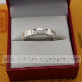 Replica Replica Cartier Maillon Panthere Wedding Ring Band White Gold 4 Diamonds online