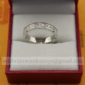 Replica Cartier Maillon Panthere Wedding Ring Band White Gold Diamonds