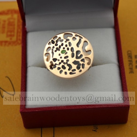 Replica Cartier Panthere Ring Replica Pink Gold Tsavorite Lacquer