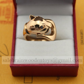 Replica Knockoff Cartier Panthere Ring Pink Gold for sale