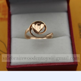 Replica Replica Cartier Pink Gold stainless steel Ring