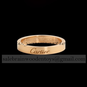 Replica Knockoff Cartier Wedding Ring Band Pink Gold stain...