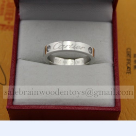 AAA Cartier Wedding Ring Band White Gold Diamonds