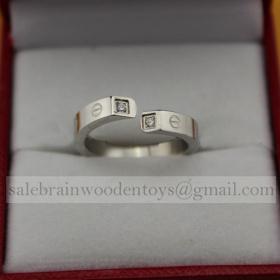 Replica Replica Cartier White Gold Love Ring Screw Motifs Diamonds