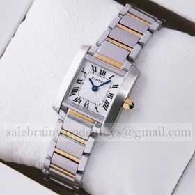 Replica Cheap Cartier Tank Francaise Two-Tone Gold Ladies Watches