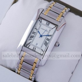 Replica Design Replica Cartier Tank Americaine Two-Tone 18K Yellow Gold and Stainless Steel Mens Watches