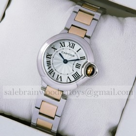 Designer Cartier Ballon Bleu Two-Tone 18kt Pink Gold Small Ladies Watches