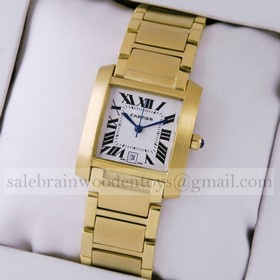 Replica Discount Cartier Tank Francaise 18K Yellow Gold Mens Watches