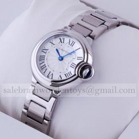 Replica Fake Ballon Bleu de Cartier Stainless Steel Ladies Watches