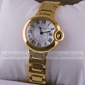 Replica Fake Cartier Ballon Bleu de Cartier 18kt Yellow Gold Ladies Watches