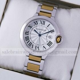 Replica Fake Cartier Ballon Bleu de Cartier Midsize Two-Tone Yellow Gold Unisex Watches