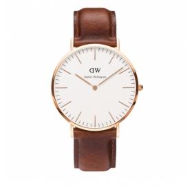 Replica Genuine Daniel Wellington leather strap men quartz watch
