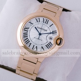 Replica High Quality Replica Cartier Ballon Bleu de Cartier 18K Rose Gold Mens Watches