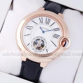 Replica Hot sale Fake Ballon Bleu de Cartier Extra Large Flying Tourbillon 18K Rose Gold Mens Watches