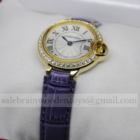Replica Replica Cartier Ballon Bleu de Cartier Diamonds 18kt Yellow Gold Ladies Watches
