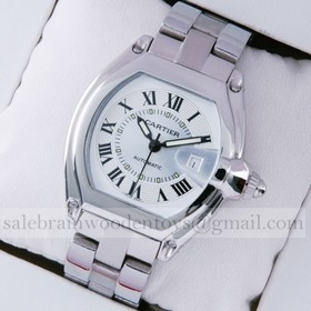 Replica Replica Cartier Roadster Stainless Steel Ivory Dial Mens Watches