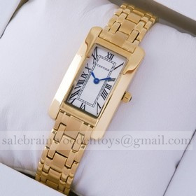Replica Replica Cartier Tank Americaine 18K Yellow Gold Ladies Watches