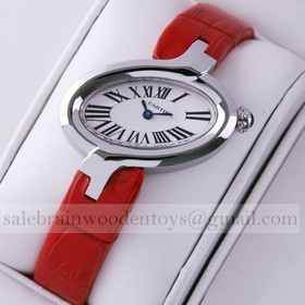 Replica Replica Delices De Cartier Stainless Steel Leather Strap Ladies Watches