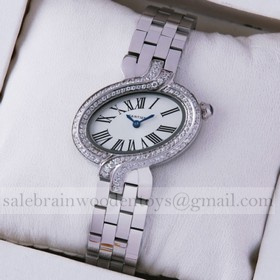 Replica Replica Delices De Cartier Two-Row Diamonds Stainless Steel Ladies watches