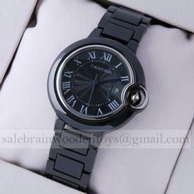 Replica Replica Online Sale Ballon Bleu de Cartier Medium Black Ceramic Unisex Watches