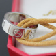 Replica Imitation Cartier Love Bracelet White Gold Yellow Cord Cheap Sale