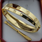 Replica Cartier Love Bracelets Replica Yellow Gold stainless steel