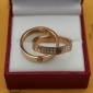 Replica Cartier Love Ring Replica Pink Gold Diamonds Cheap Sale