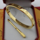 Replica Cartier Yellow Gold Love Bracelets Replica B6035516 stainless steel