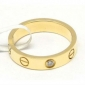 Replica Fake Cartier love wedding band 18K yellow gold one diamond