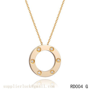 Cartier love necklace in yellow gold