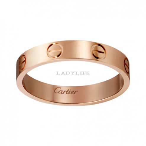 cartier love ring pink Gold narrow version for men and women replica