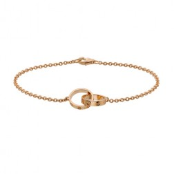 cartier love plated real 18k pink gold bracelet replica