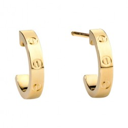 cartier love yellow gold earring screw design B8028800 replica