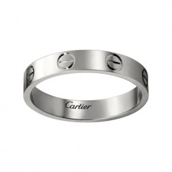 cartier love ring white gold narrow version for men and women replica