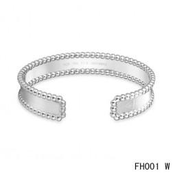 Van Cleef & Arpels Open Cuff Bracelet,White Gold